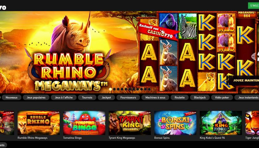 Le site Casino770